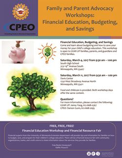 Financial Education, Budgeting, and Savings